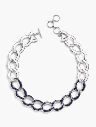 Chain-Link Statement Necklace