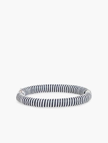 Thread Wrapped Cord Bangle