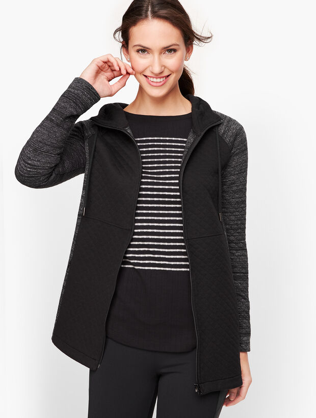 Quilted Jacquard Hooded Jacket