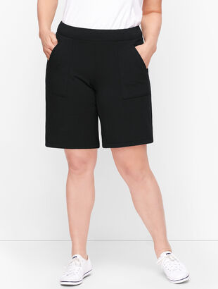 Wrap Side Hem Terry Shorts