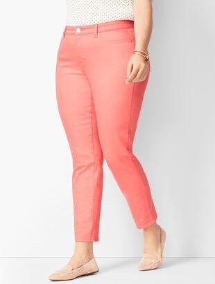 Slim Ankle Jeans - Coastal Coral