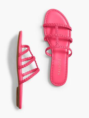 Sadie Braided Slides - Solid