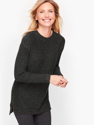 Dream Tweed Mixed Stitch Sweater