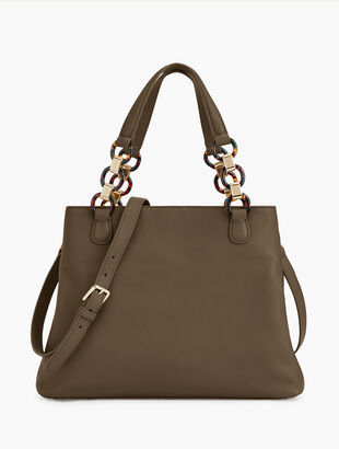 Soft Pebbled Leather Satchel