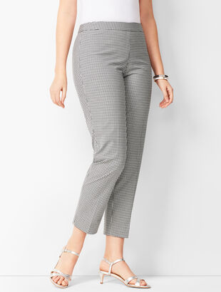 Tailored Gingham Crops - Curvy Fit
