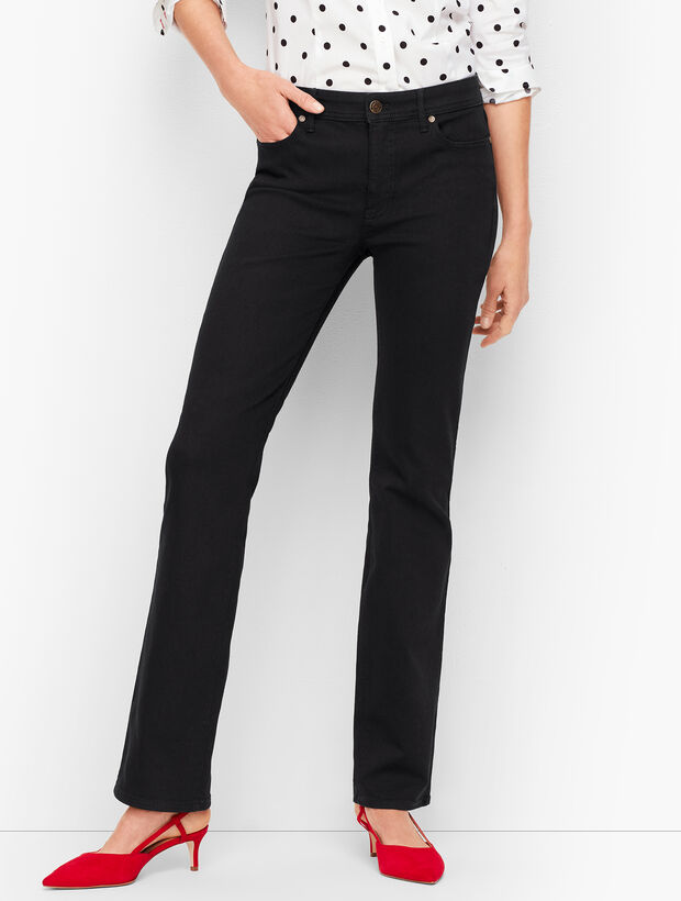 High-Waist Denim Barely Boot Jeans - Black