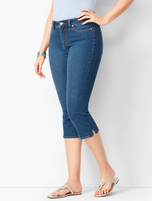 Denim Pedal Pushers - Curvy Fit - Liberty Wash