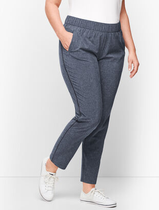Lightweight Stretch Side Piping Pants  - Mélange