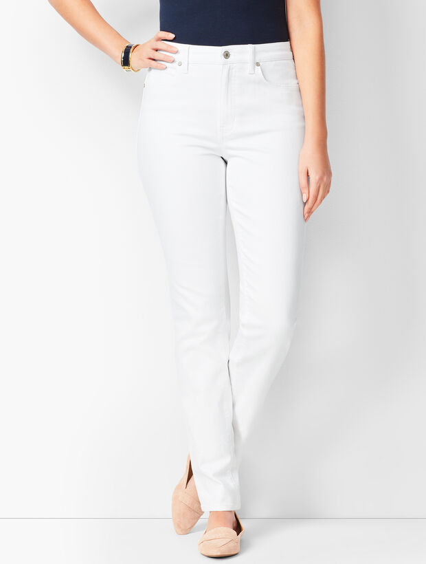 61bc1d7d1e9b High-Waist Straight-Leg Jeans - Curvy Fit - White