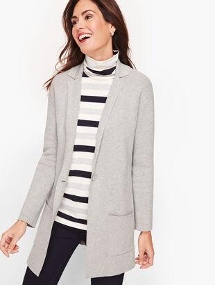 Patch Pocket Sweater Blazer