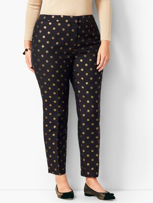 Tailored Hampshire Ankle Pants - Golden Dots