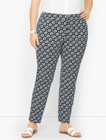 Plus Size Exclusive Talbots Chatham Ankle Pants - Distressed Medallion
