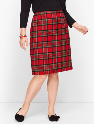 Plaid Sparkle A-Line Skirt