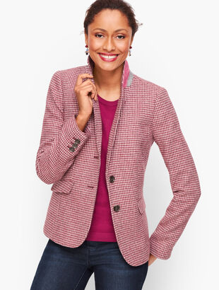 Shetland Wool Blazer -- Tattersall Plaid