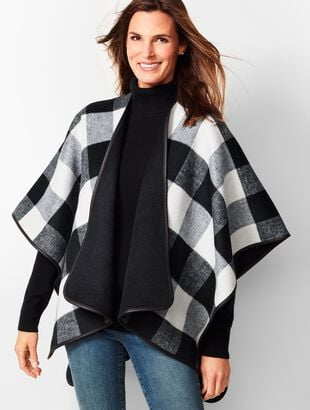 Double-Face Buffalo Plaid Ruana
