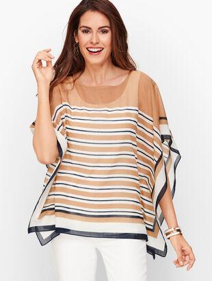 Hickory Stripe Poncho