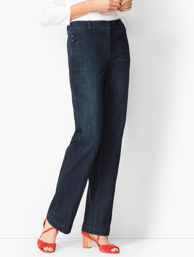 High-Waist Denim Trousers