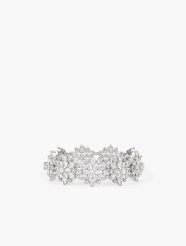 Crystal Snowflake Stretch Bracelet