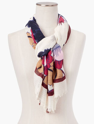 Autumnal Floral Scarf