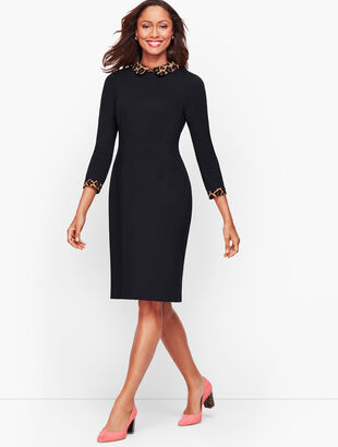 Refined Ponte Sheath Dress