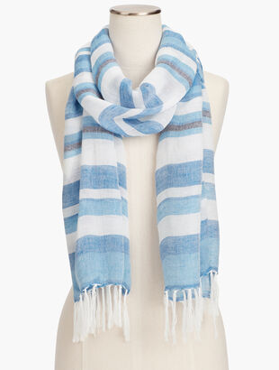 Ocean Striped Scarf