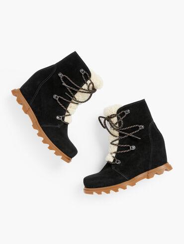 Sorel Joan Of Arctic™ Waterproof Suede Wedge Ankle Boots