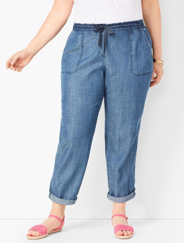 Drawstring Cuffed Pants - Tencel(TM)