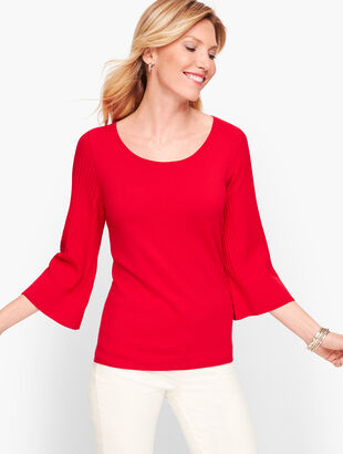 Flared Sleeve Sweater