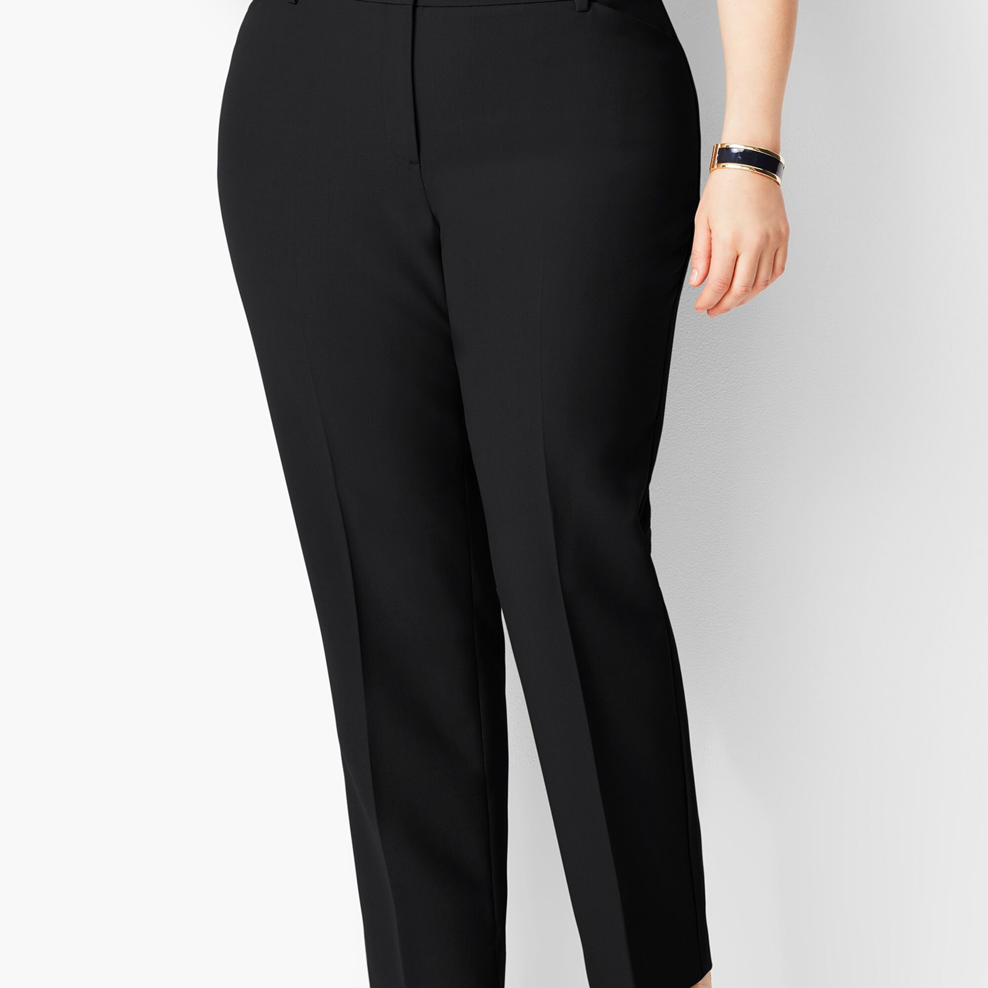 c9a57b7d839 Images. Plus Size High-Waist Tailored Ankle Pant - Curvy Fit
