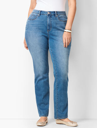 Plus Size High-Waist Straight-Leg Jeans - Curvy Fit - Aurora Wash