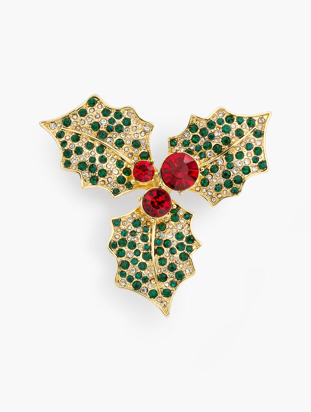 Jolly Holly Brooch