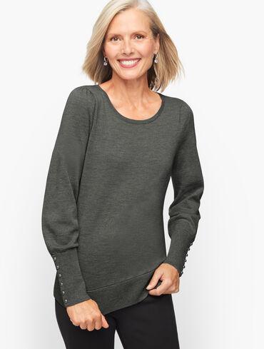 Puff Sleeve Lurex® Merino Sweater