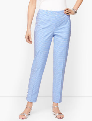 Gingham Slim Ankle Pants