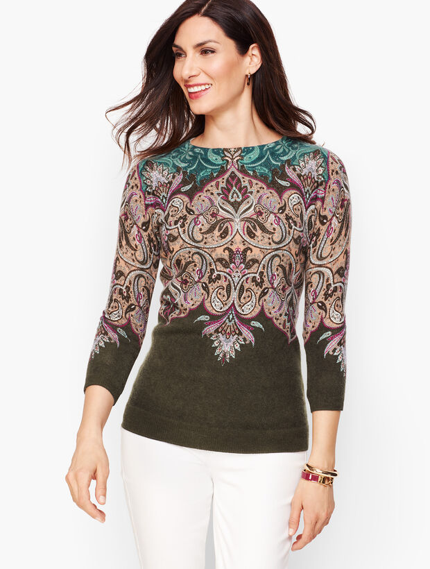 Cashmere Audrey Sweater - Paisley