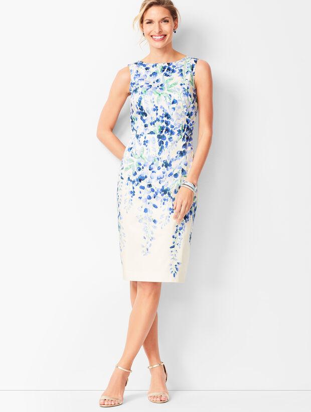 Pastel Floral Sheath Dress