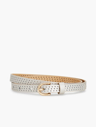 Metallic Perforated Leather Belt