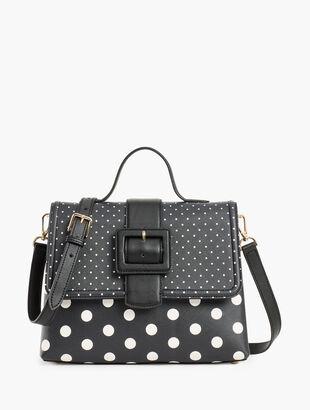 Dot Top Handle Saffiano Bag