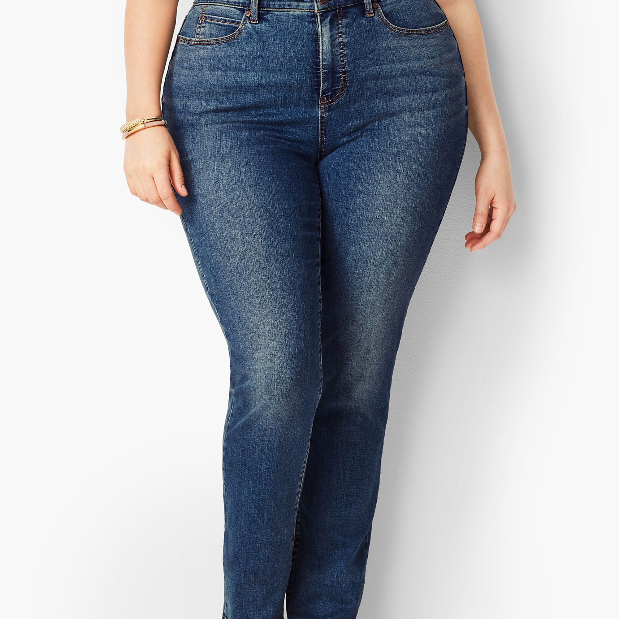 ad471d57ba Plus Size High-Rise Straight-Leg Jeans - Curvy Fit/Baxter Wash Opens a New  Window.