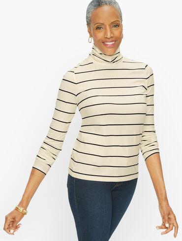 Cotton Turtleneck - Nice Stripe