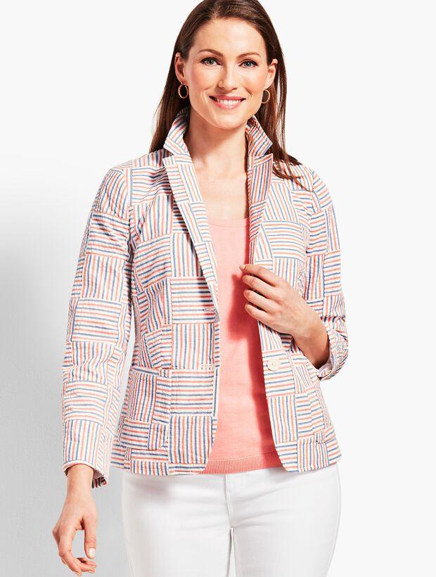 Patchwork Stripe Blazer