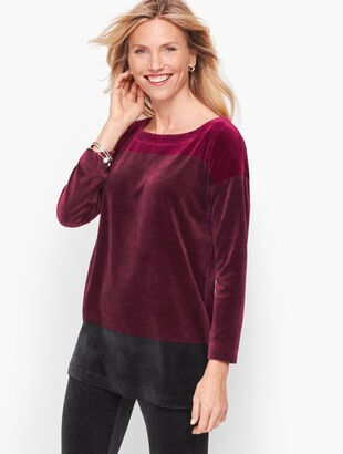 Luxe Velour Colorblock Top