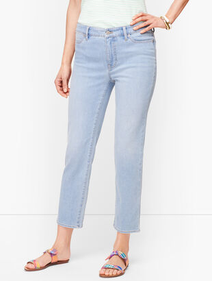 Straight Leg Crop Jeans - Seaview Wash