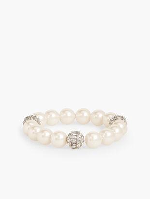 Pearl & Pavé Stretch Bracelet