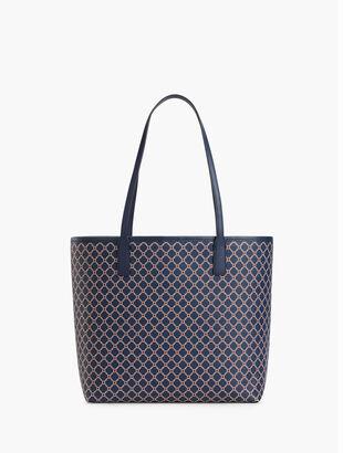 Printed Saffiano Tote Bag
