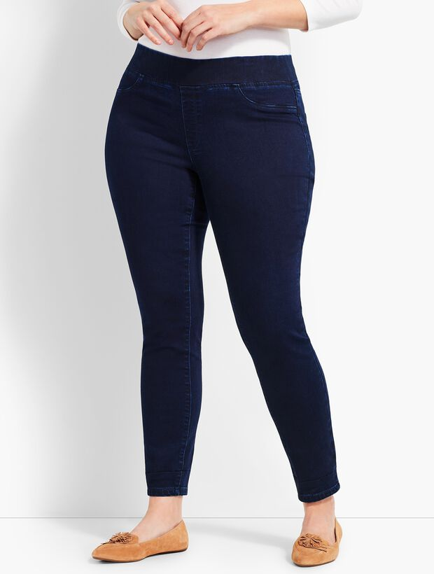 Plus Size Exclusive Comfort Stretch Denim Pull-On Jeggings - Spindrift Wash