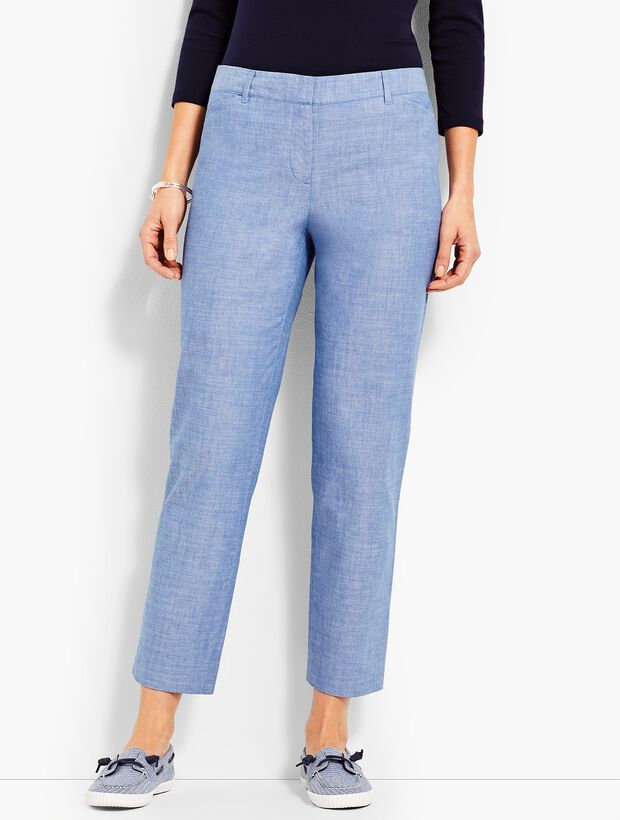 The Perfect Crop-Chambray