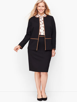 Italian Luxe Knit Tipped Jacket