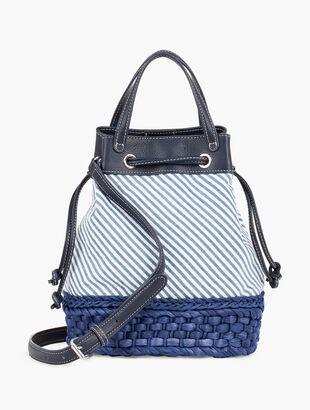 Seersucker Drawstring Bag