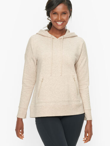 Brushed Terry Hooded Pullover