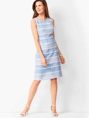 08626e6e Stripe Tweed Shift Dress